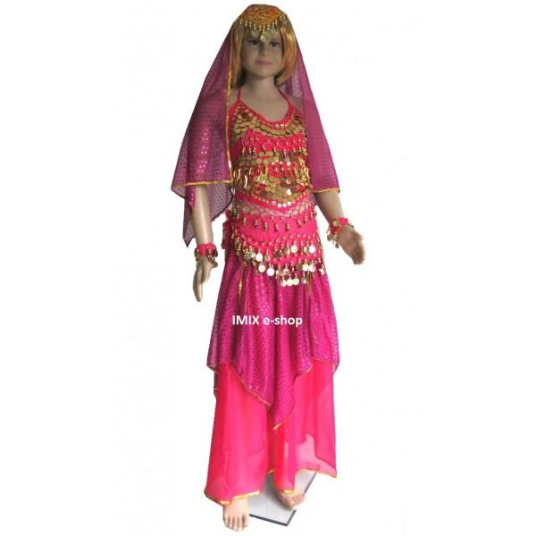 Dívčí taneční kostým se sukní 7-dílný