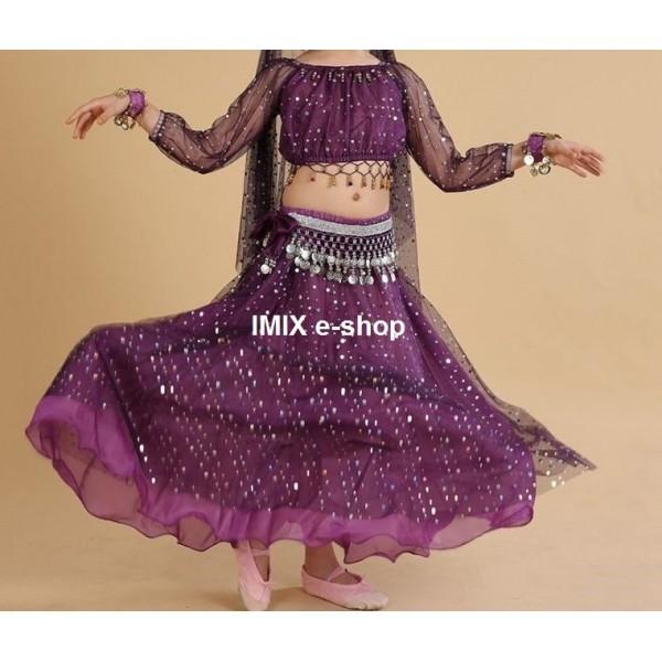 Dívčí taneční kostým NAJAT - 7 dílný