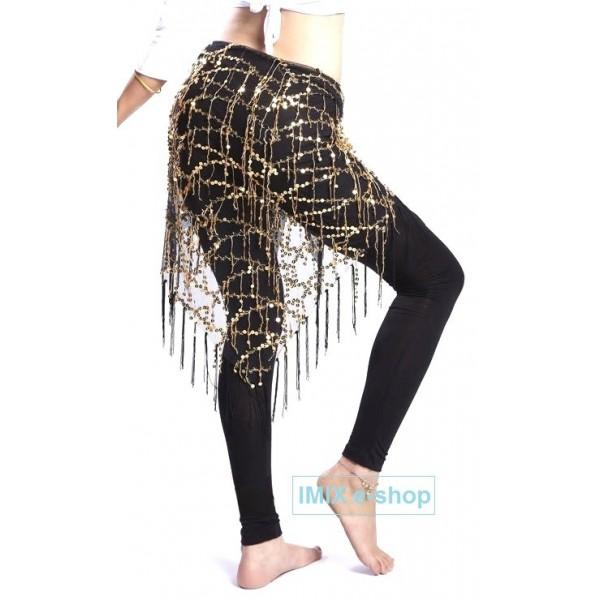 Bavlněné taneční černé legíny