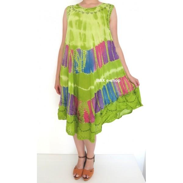 Dámské letní batikované šaty na ramínka RANJANA