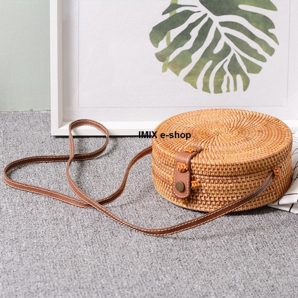 Ratanová kabelka Vegan kruhová
