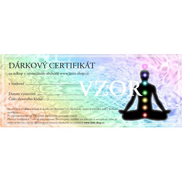 Dárkový certifikát - motiv etno