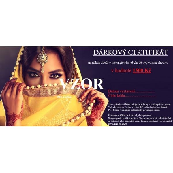 Dárkový certifikát - motiv orient