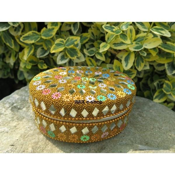 Šperkovnice korálková barevná
