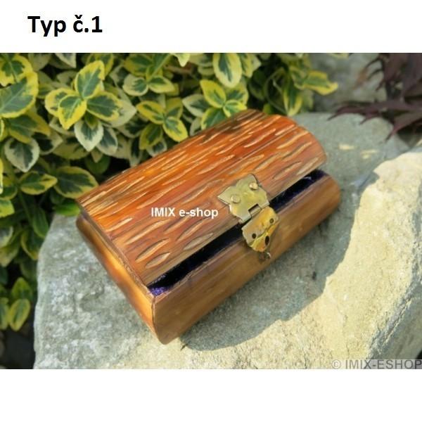 Dřevěná exotická šperkovnice malá