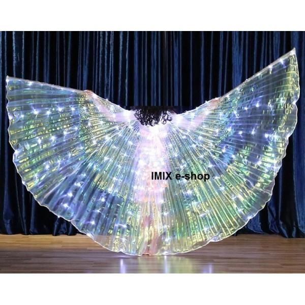 Dívčí LED křídla ISIS bílá