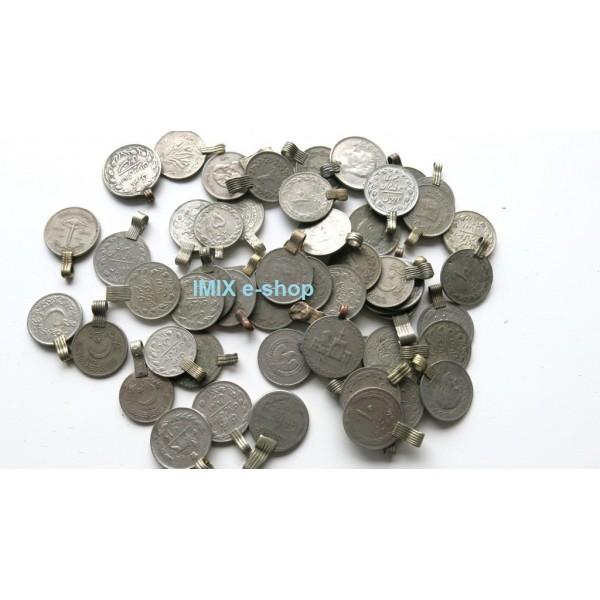 Starožitné pákistánské velké mince s háčkem na našití