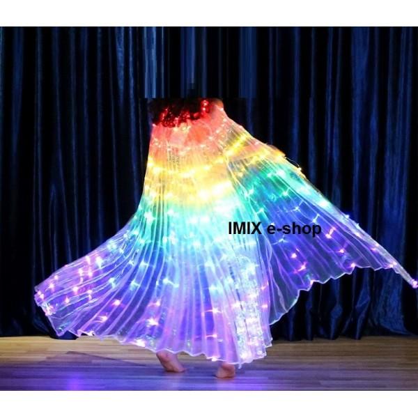 Dívčí LED křídla ISIS duhová