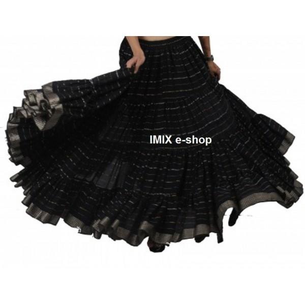 Bavlněná Rádžasthán Tribal široká sukně 23 metrů