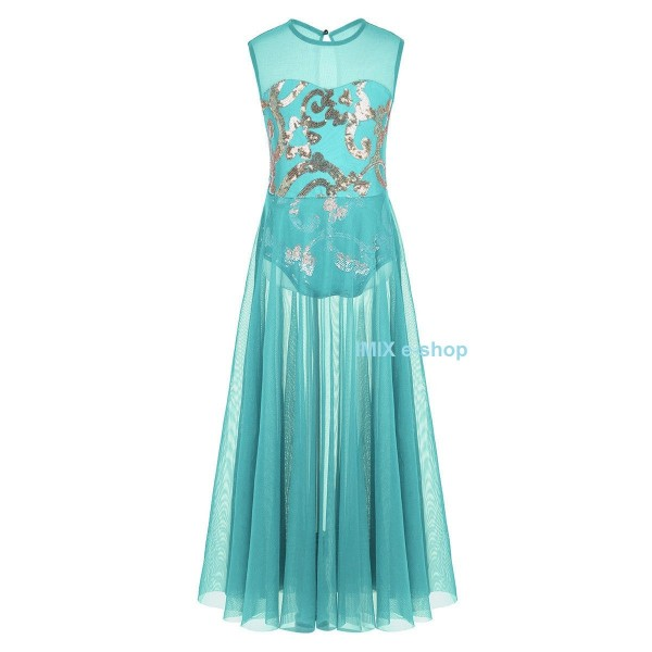 Dívčí taneční šaty s elastickým zdobeným body Juliana