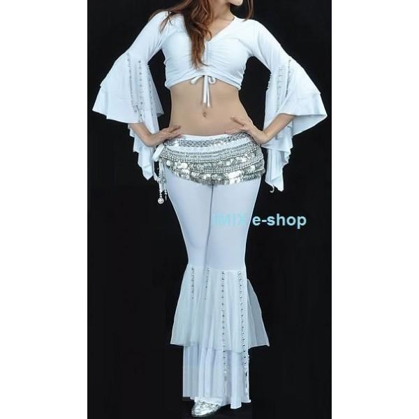 Kalhotový kostým s korálkovými třásněmi ADIL