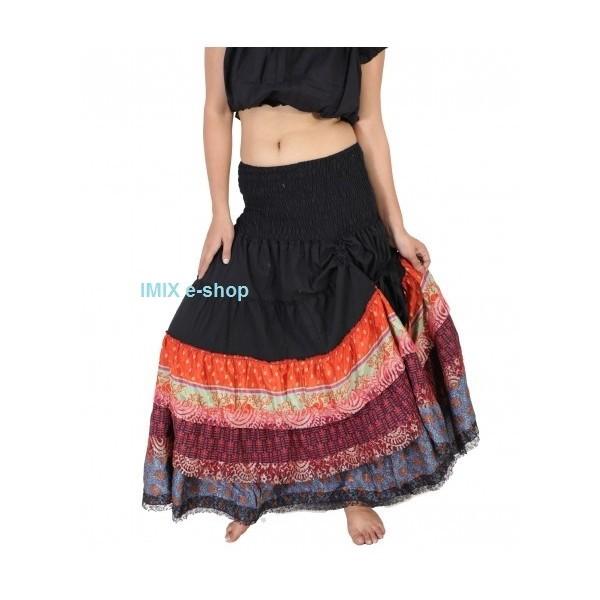 Krajková Gypsy Tribal sukně bavlněná stahovací