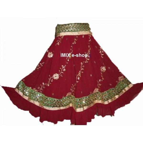 Bollywood vyšívané sukně SHANTI šité na míru (13 barev)