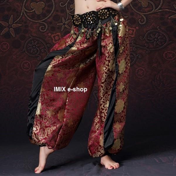 Sultánské brokátové Tribal Gothic kalhoty Aladinky č.1