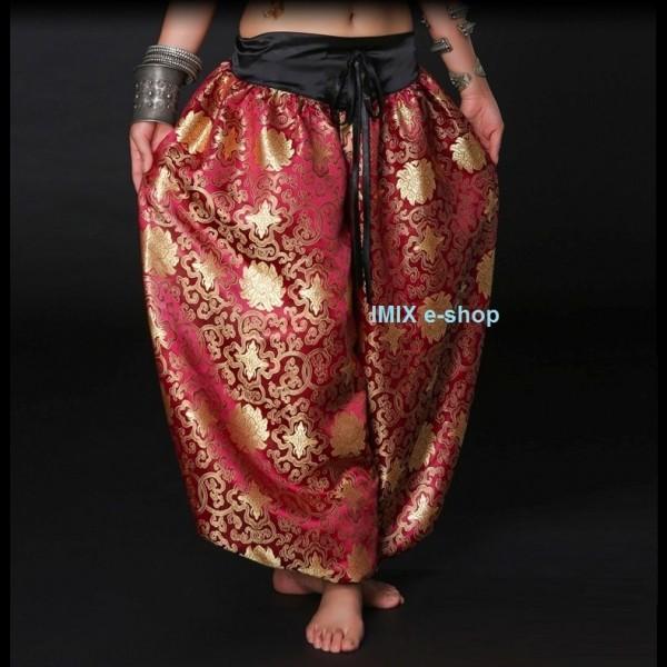 Sultánské brokátové Tribal Gothic kalhoty Aladinky č.2