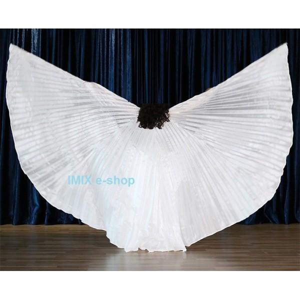 Hedvábná dívčí křídla ISIS - BÍLÁ NEPRŮHLEDNÁ