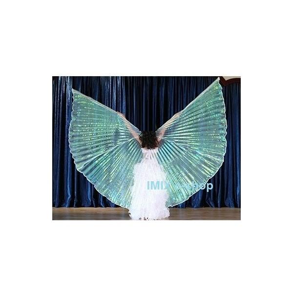 Profi dívčí křídla ISIS - BÍLÁ PERLEŤOVÁ PRŮHLEDNÁ