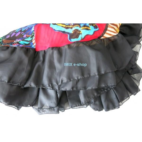 Lem černý na široké sukně šifónový na našití 16,5 metrů