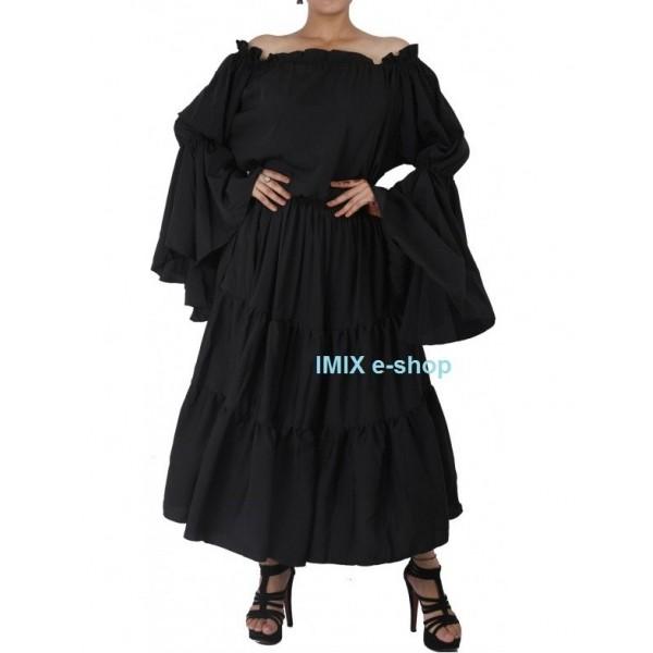 Černé Gotic renesanční taneční šaty - II.jakost