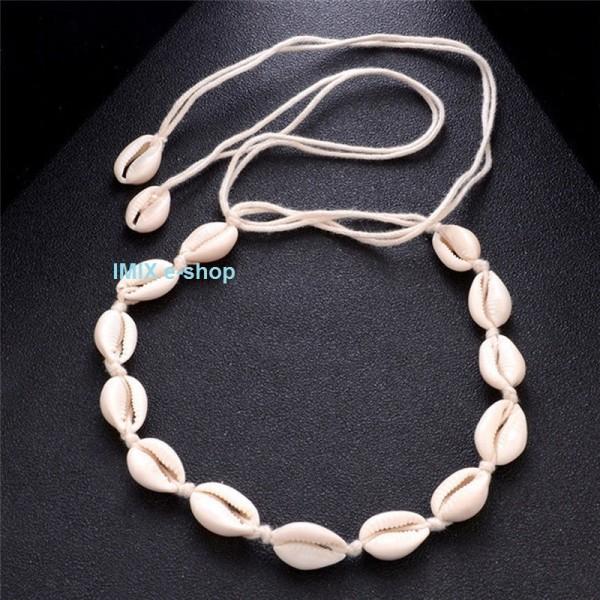 Mušličkový náhrdelník / čelenka světlá