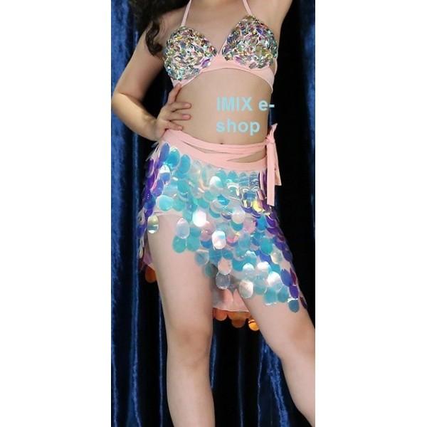 Dívčí flitrový latino, orient kostým ENISA