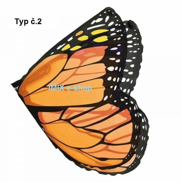 Dětská motýlí křídla šifönová krátká