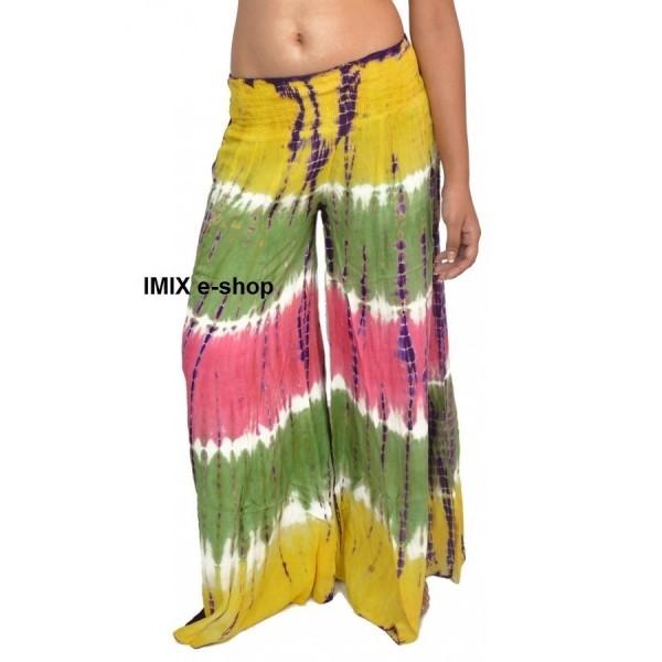 Batikované široké letní kalhoty
