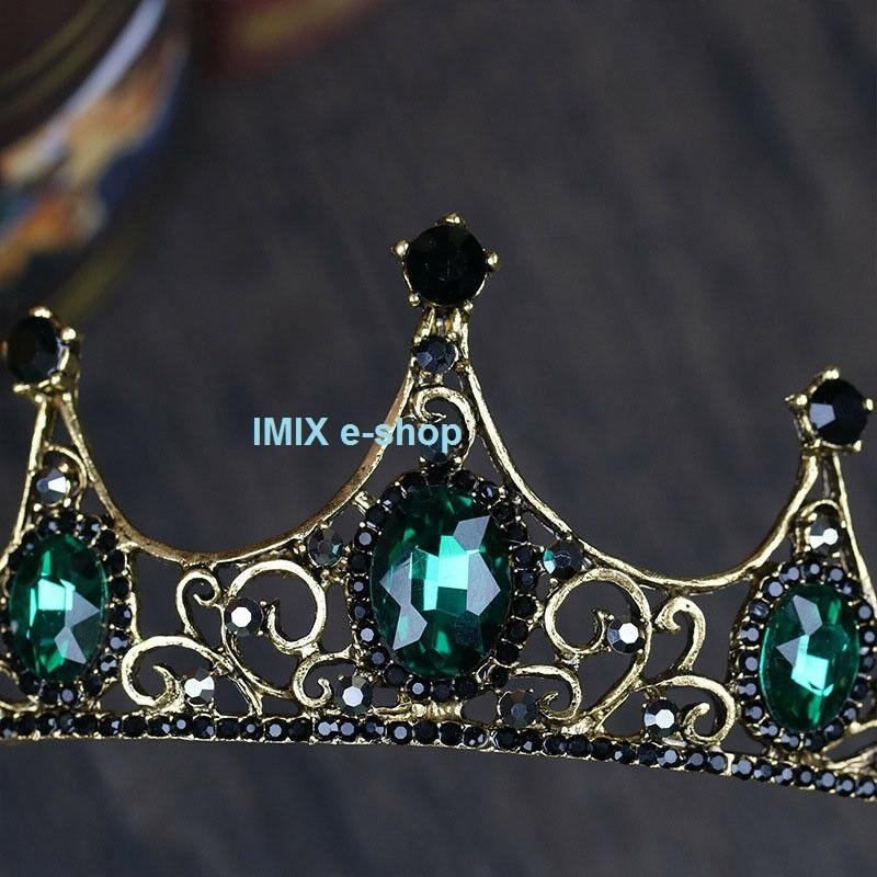 Orientální korunka se smaragdovými kameny