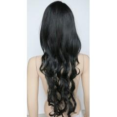 Paruka s dlouhými polovlnitými vlasy