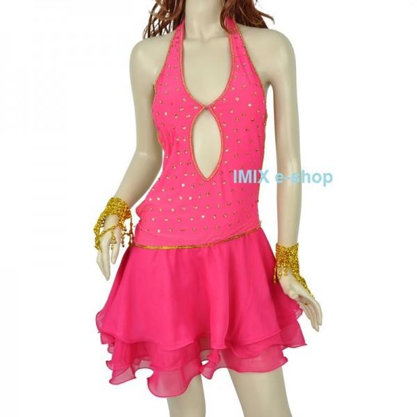 Latino šaty krátké volánkové Ritta