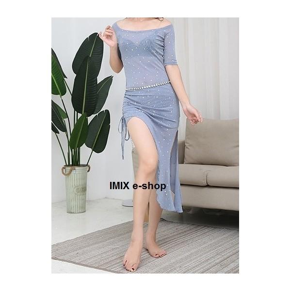 Taneční třpytivé stahovací šaty Sally