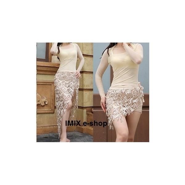 Šátek /zavinovací sukně/ s flitry Avril (dvě délky)