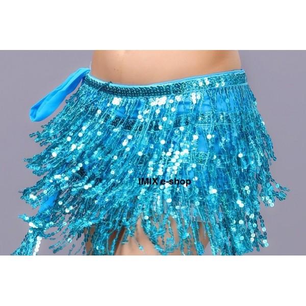 Flitrový šátek třásňový KARIM