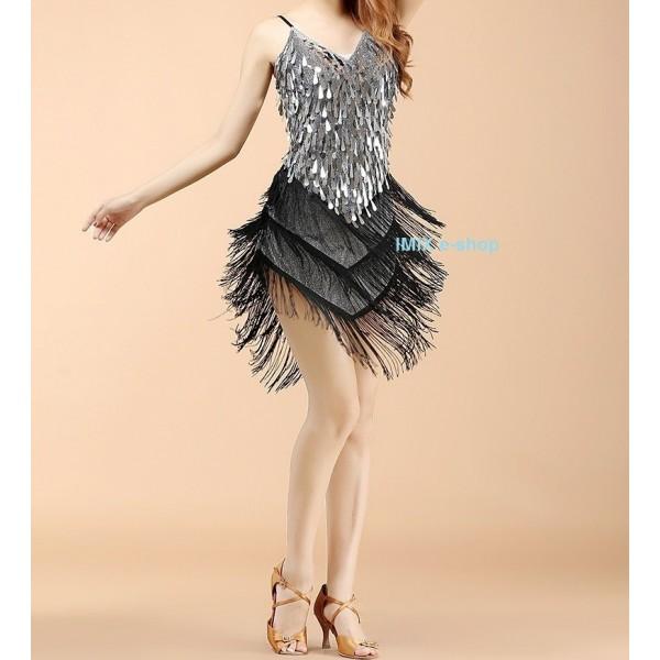 Třásňové krátké Latino šaty CATARINA