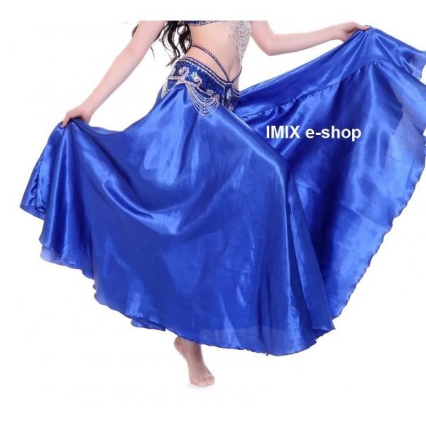 Saténové zářivé kolové sukně MALIKA