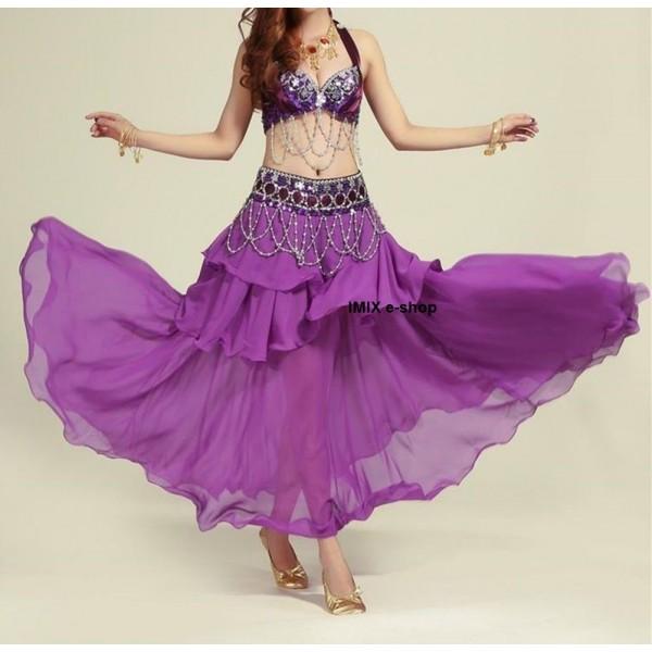 Belly Dance třídílný taneční kostým ZAHIA