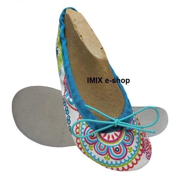 Barefoot cvičky s širokou špičkou MANDALA - zavazovací