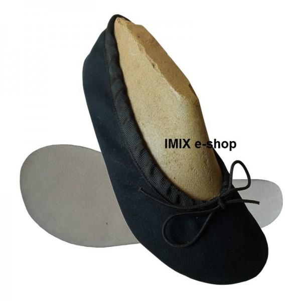 Barefoot cvičky s širokou špičkou ČERNÁ - zavazovací