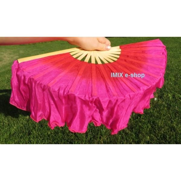 Malý Dívčí hedvábný vějíř s přesahem - více barev