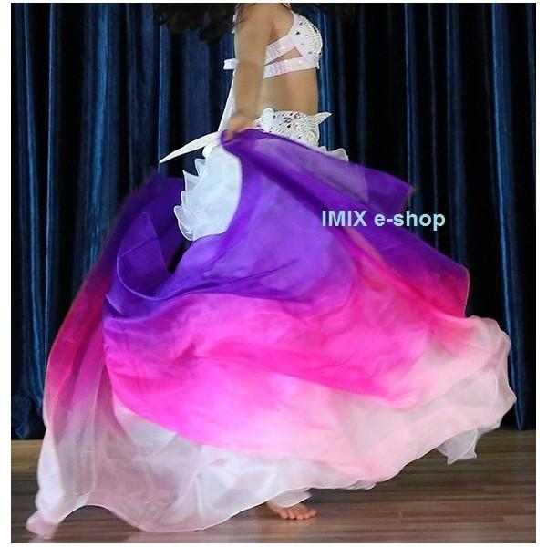 Dívčí profi hedvábný taneční závoj