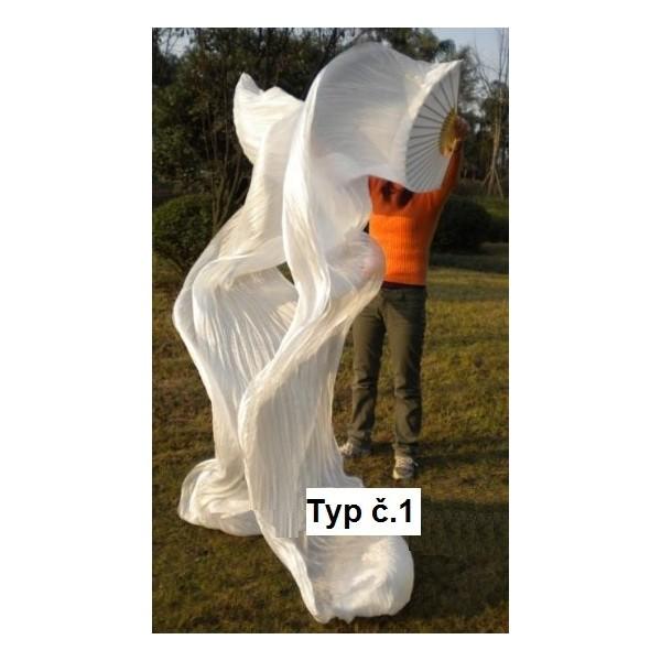 Hedvábné vějíře extra dlouhé 3 metry - PÁR