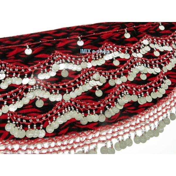 Penízkový šátek sametový OMÁN