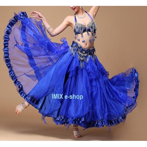Kolová dvojitá sukně s cípy a volány SORAYA