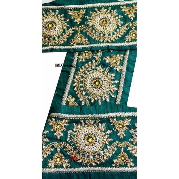 Vyšívaná borta, indický pás zdobený korálky č.12