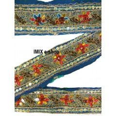 Vyšívaná borta, indický pás zdobený korálky č.13