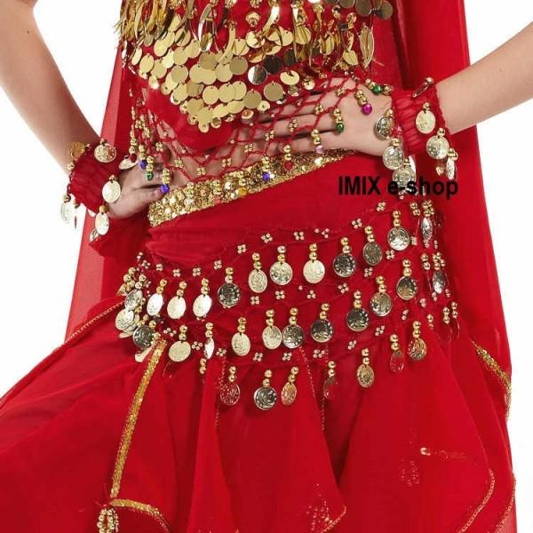 Dívčí třířadový penízkový šátek zdobený ALIMA