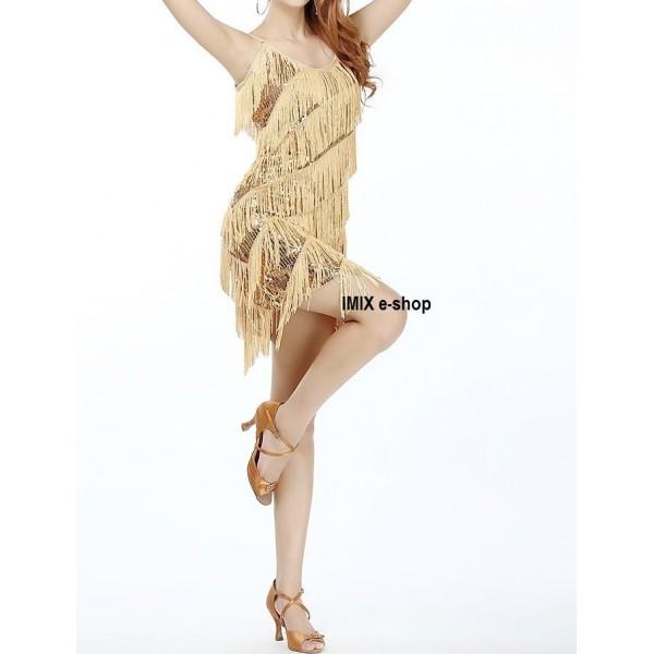 Třásňové latino šaty Gatsby Daisy