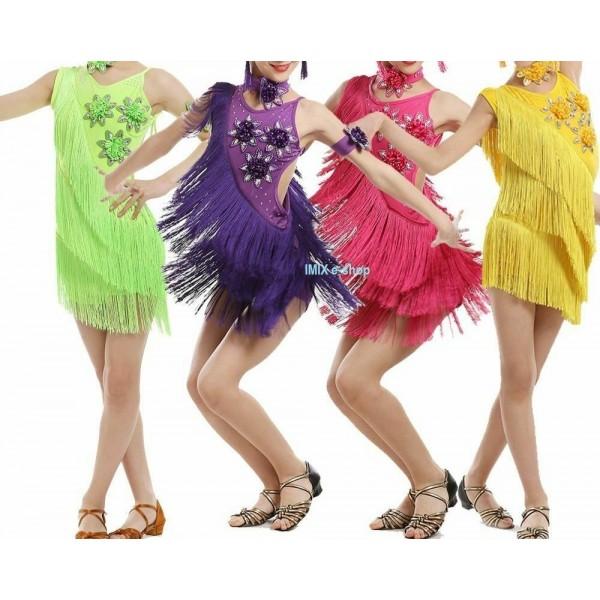 Latino dívčí šaty SASKIA s ozdobami - 6 dílů