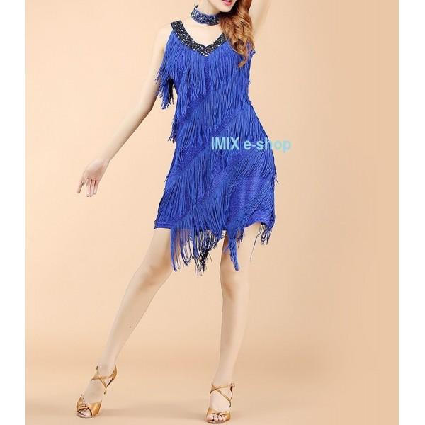 Dámské latino třásňové taneční šaty SALVIA