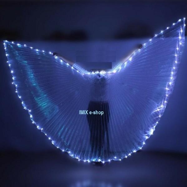 LED isis křídla s měnícím osvětlením po obvodu